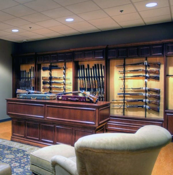 beautiful-gun-room-design-with-table-in-middle