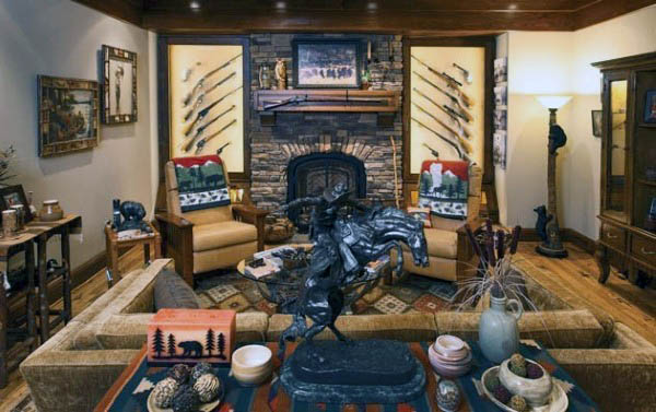 collectors-gun-room-design-with-seating-area
