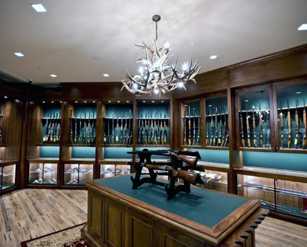 gun-display-room-design-with-wooden-cabinetry