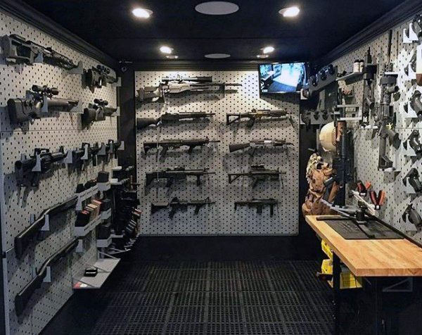 how to build a hidden gun room
