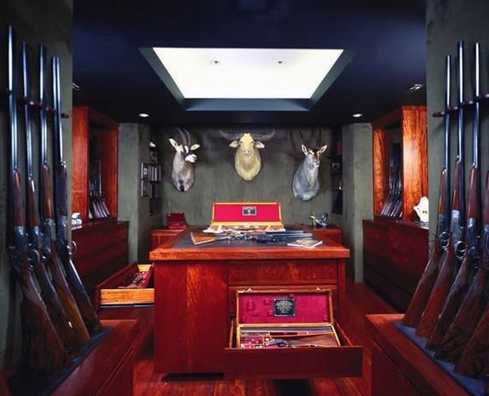 Top 100 best gun rooms raw dog tactical for Gun room design ideas for houses