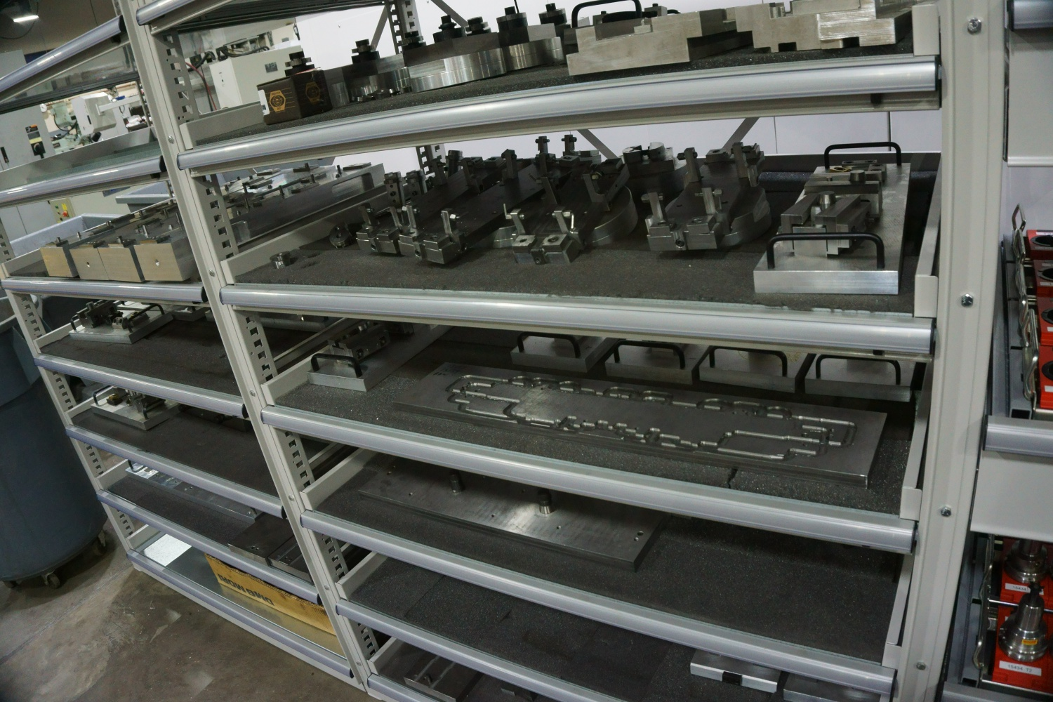 Various fixture devices for the CNC machines.
