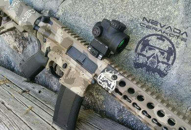 Nevada Cerakote's custom-finish hog gun, which was an Axelson Tactical AR