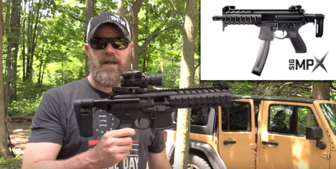 MAC Plays with the New SIG MPX Collapsible Arm Brace By SB Tactical