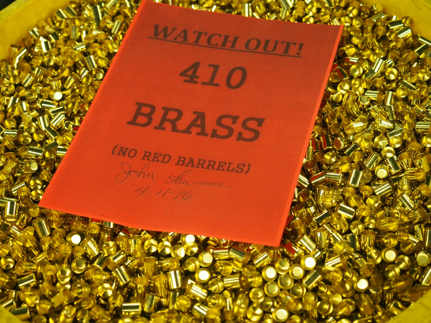 The process of making the brass for shotgun shells is similar to how other brass is made. As this says these are .410 shotgun brass.