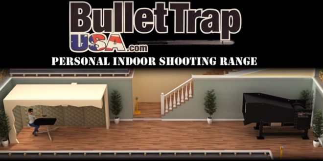 Personal indoor gun range from bullet trap usa the for Indoor shooting range design uk
