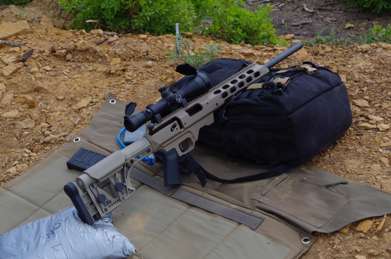 "My newest ""Bae"". A Remington 700 SPS Tactical mounted in an MDT Chassis."