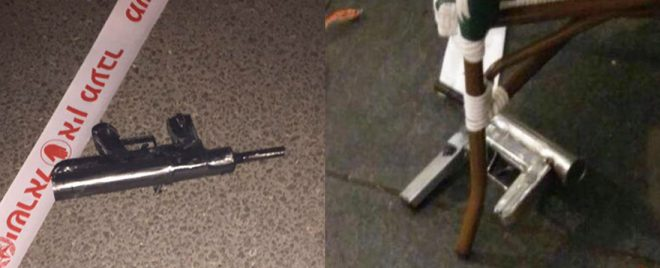 The homemade guns used in Wednesday's attack
