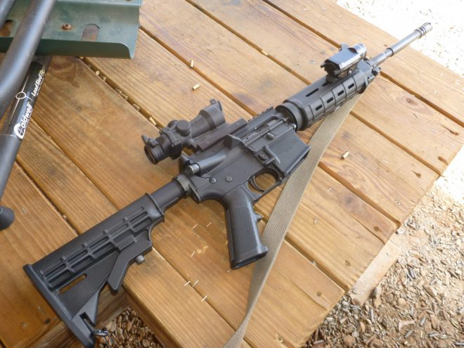 The author's Colt 6920 AR-15, which has given him years of reliable service over thousands of rounds of ammunition fired.