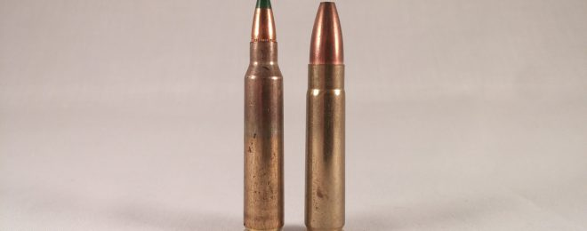 7.62x40 WT next to its parent, the 5.56mm.