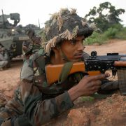 An_Indian_soldier_during_a_joint_exercise_with_U.S._Soldiers_at_Camp_Bundela_in_2009