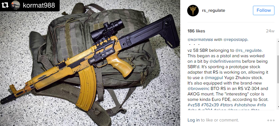 RS Regulate VZ-58 Zhokov Stock Adapter Coming Soon -The Firearm Blog