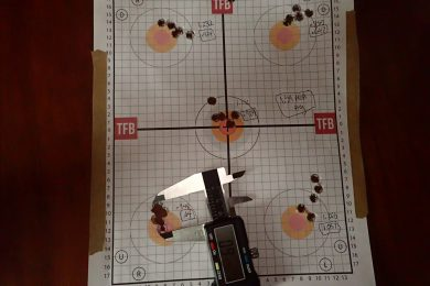 Target w/calipers on tighest group