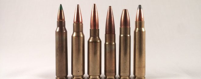 5.56mm (left) alongside some of its competitors.