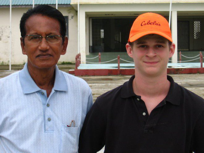 Myself with Kyaw Aye at the Burmese Olympic Shooting Range in Dagon Township, just north of the capitol of Yangon.