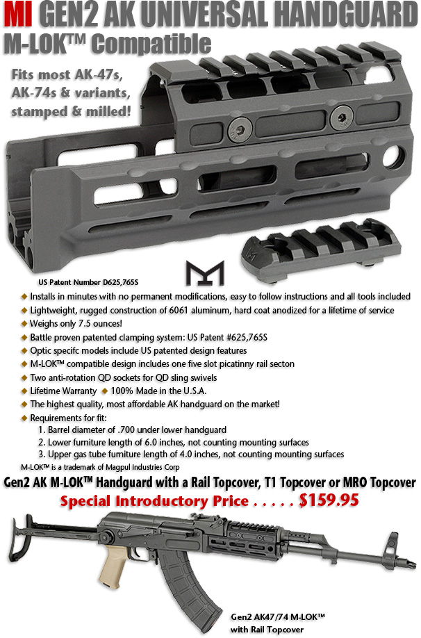 Midwest Industries Gen 2 AK Hand Guards