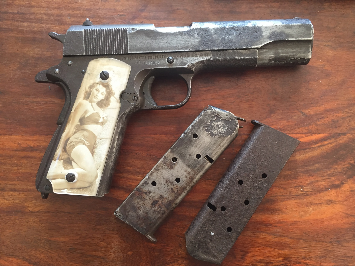 Potd World War Ii 1911 Military Pistol From A Crashed