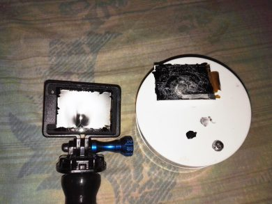 GOPRO HERO4 Hit by Shotgun Pellet