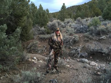 Wearing multiple layers of NOMAD on a mountain lion hunt in the Sierra Nevadas.