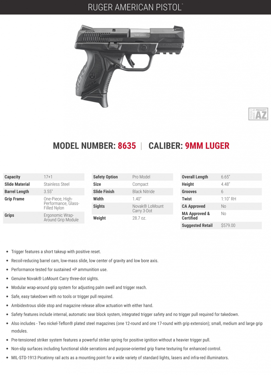 Ruger Completes the American Pistol Line-Up with a 9mm