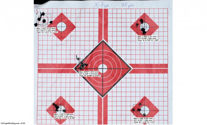 Sig Sauer X-Five 25 yards