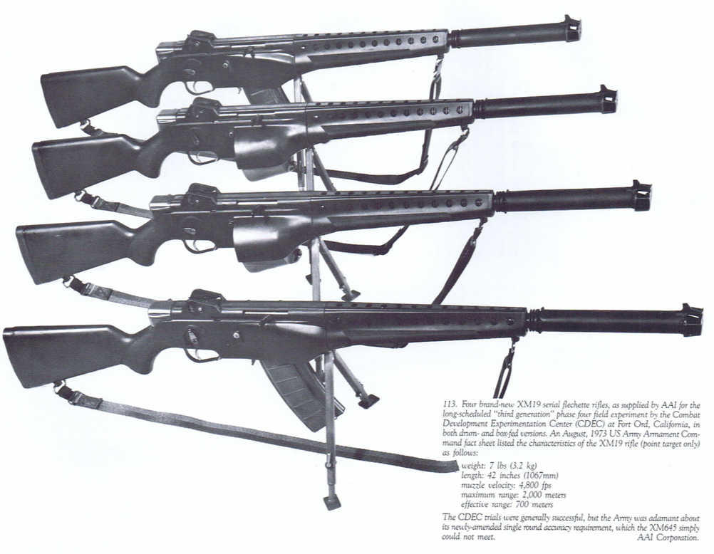 Four-XM19-weapons