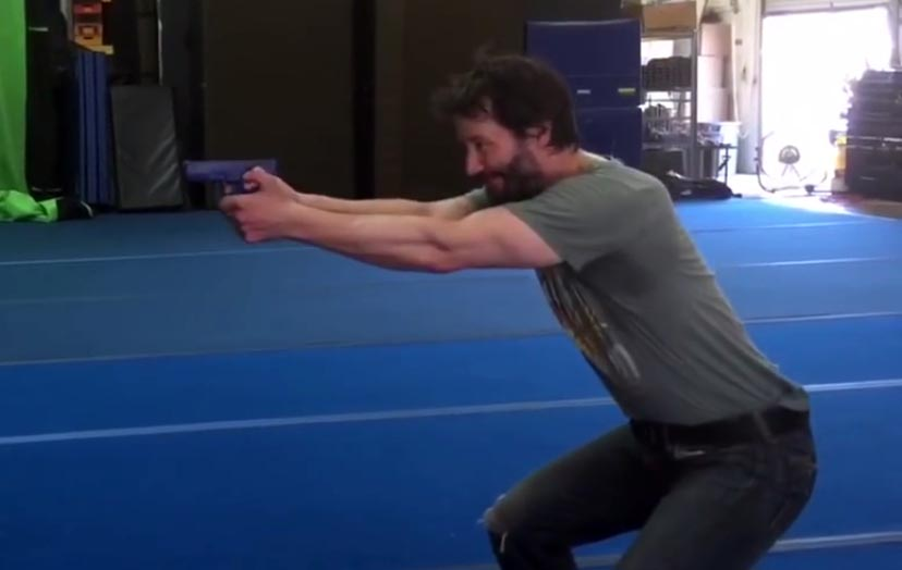 Keanu Reeves Training For John Wick 2 With Aaron Cohen -The
