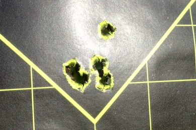 Cold bore and subsequent 5-shot group