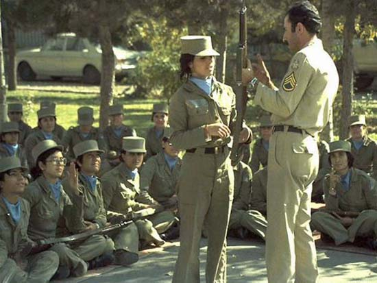 Pahlavi Imperial Iranian Military Women Rifle Training 1970s