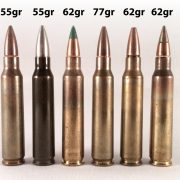 Even within the same ammunition system, different projectile weights have a massive effect on external and terminal ballistics. Here we see some of the different weight bullets available in the 5.56x45mm caliber.