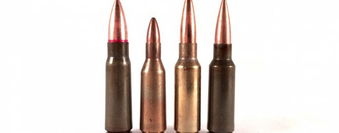 Different bore diameters give rounds different properties. Despite the fact that all three rounds shown here - 7.62x39, 5.6x39 Russian, and 6.5x38 Grendel (two on the right) - all use the same case base and have virtually the same case capacity, they have very different ballistic properties due to their different bore and bullet diameter.