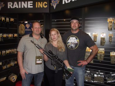 (l to r) Chris Gridley, author Kat Ainsworth, and Garrett Golden with the first G2 Precision Team Never Quit Mk12CF SPR