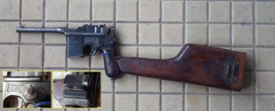 "One of the Schnellfeur pistols in the original configuration is ""Policia Militar D.F. No.271"", Serial 81297."