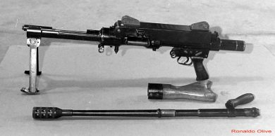 Prototype with barrel and butt stock removed.