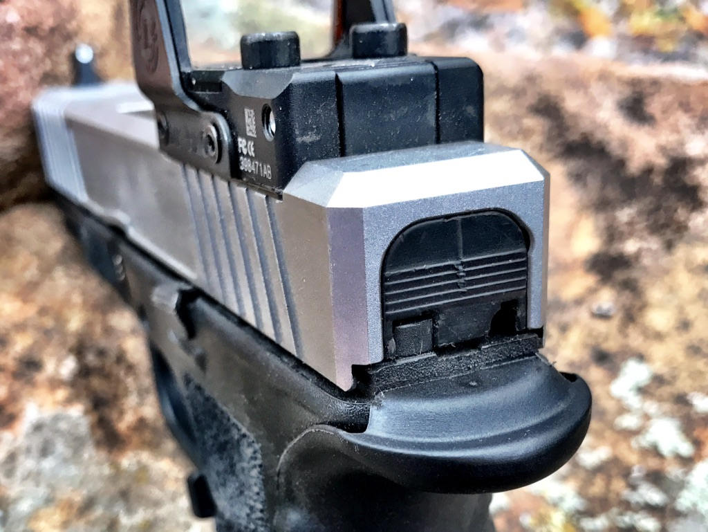 Slide with installed optic. It does take practice to get used to it.