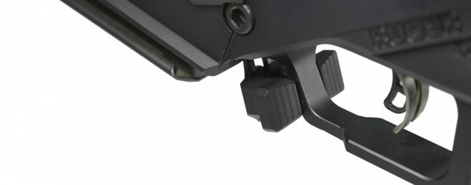 CTK Ruger Precision Rifle Mag Release Extension on Rifle