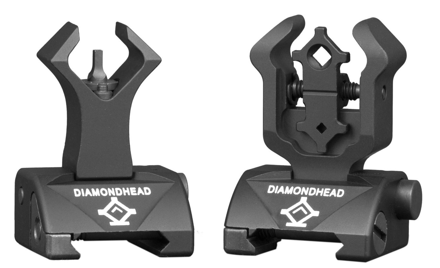 Diamondhead USA MICRO D Front Rear Iron Sights I S S for POF 308 and Raised Rail Systems Only