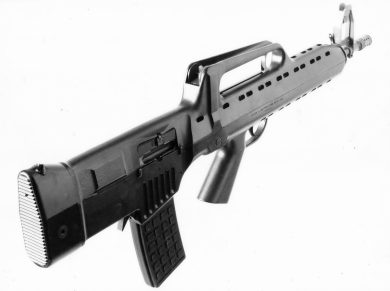 """One more view of the nifty LAPA rifle. During several informal demonstrations to military and LE people, the sentence """"We want this rifle!"""" was often heard by the author. Unfortunately, one more gun that never was…"""