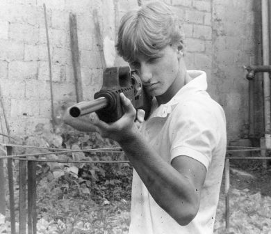Author's son Alexander, 18 at the time, was one of the many Pentagun fans who grieved for the weapon's premature death.