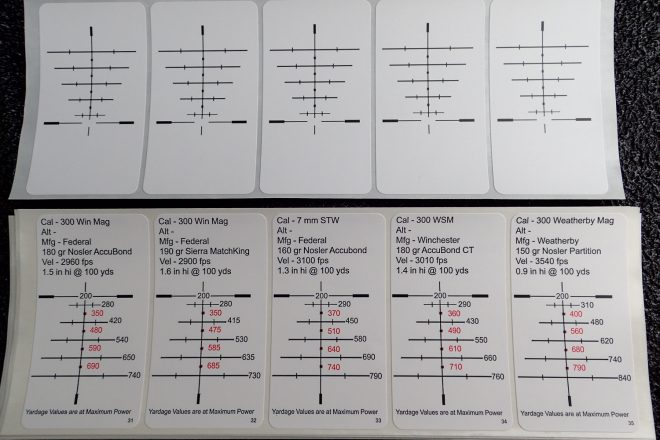 Blank and pre-printed drop chart stickers
