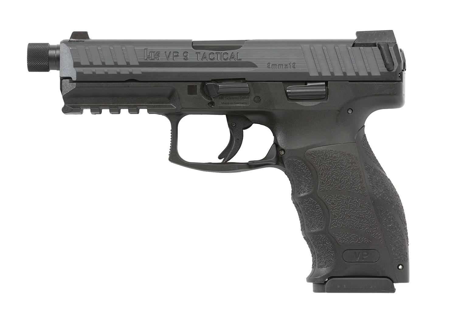 VP9-TACTICAL-LEFT-tritium-powered-night-sights-threaded-protector-July-2016