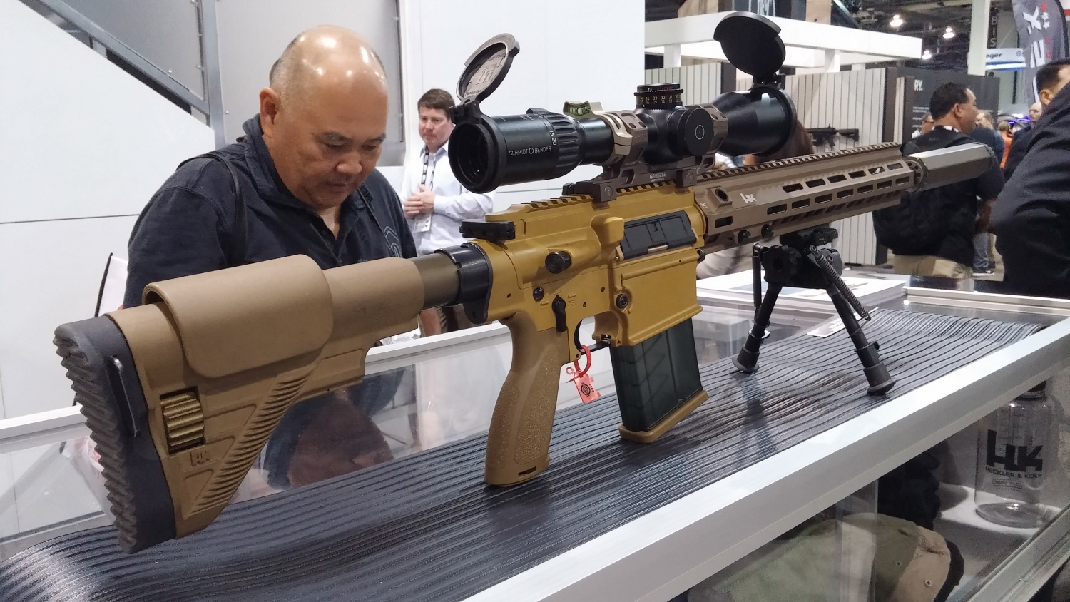 HK Shows Off the US Army's M110A1 CSASS Compact Sniper ... M110 Sniper Rifle Suppressed