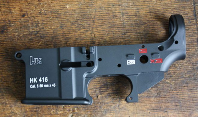 HK416 Lower and full auto parts for sale in Europe -The