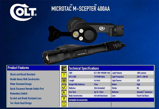 Colt flashlight