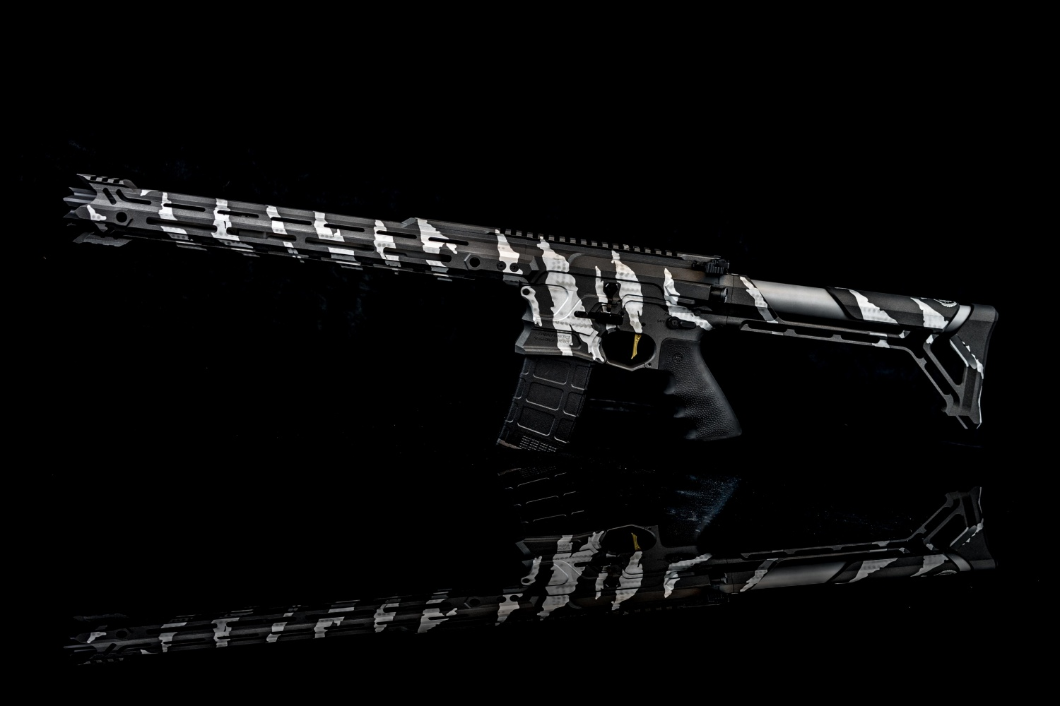 "The ""Chief"" tiger striped rifle in 6.8 SPC."