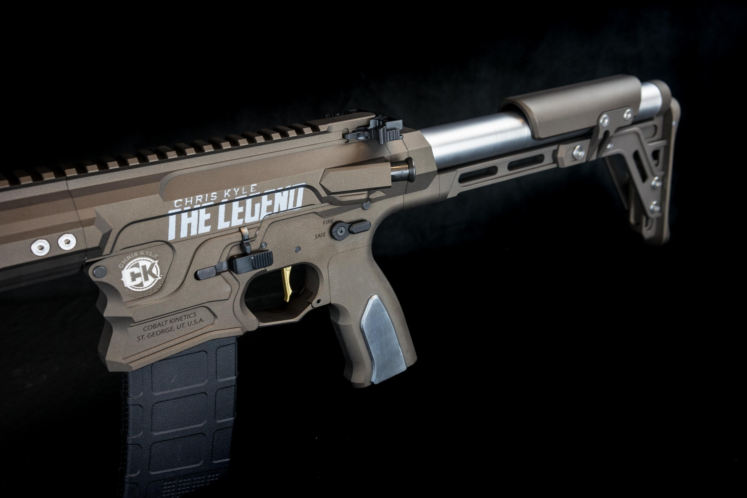 """Chris Kyle The Legend"" Logo premiering on this rifle."