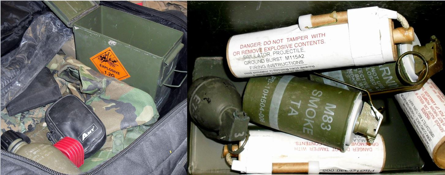 Stupid T Shirts >> Idiot Packs Ground Burst Simulators and Grenades In Luggage -The Firearm Blog