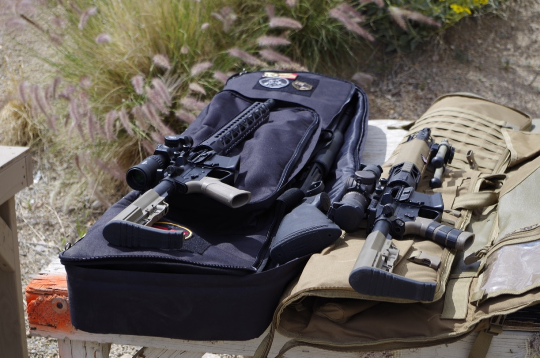 I wasn't the only one running a KE Arms Team Rifle at the match. Mine is on the left on top of the Explorer Cases 3-Gun Bag.