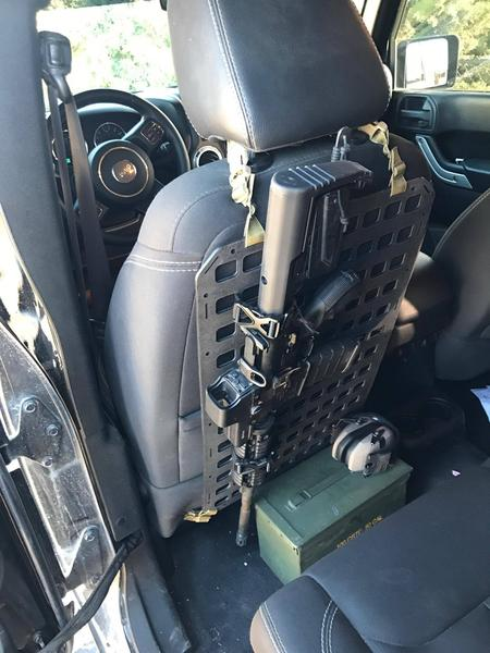 An Even Tacticooler Molle Seat Cover The Grey Man Tactical Rigid Molle Panels The Firearm Blog