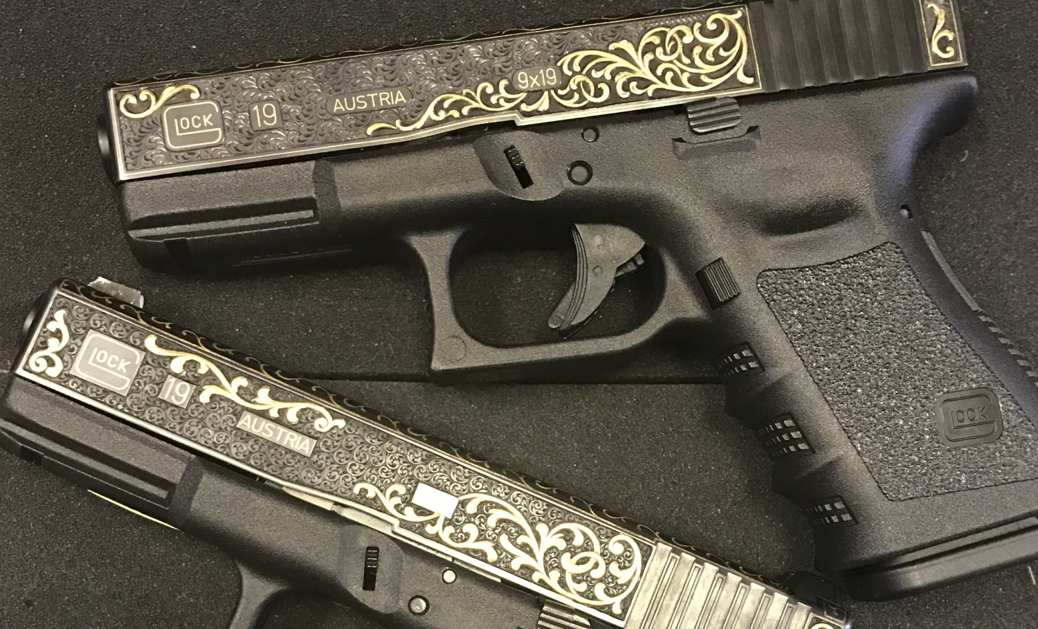 Hand Engraved And Gold Inlaid Factory Glocks The Firearm